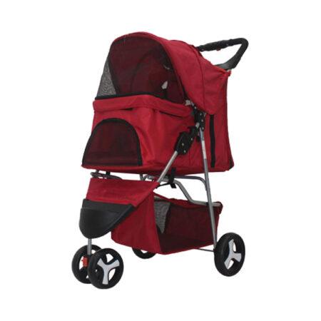 3 Wheel Pet Stroller Red
